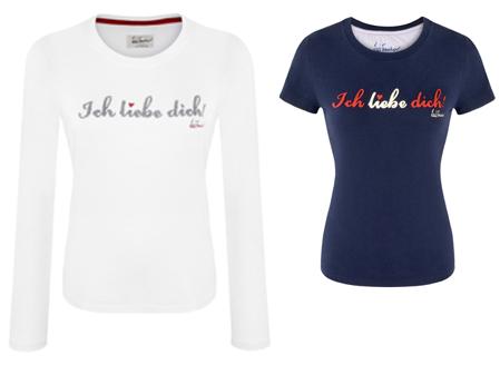 Die schönsten Geschenke zum Valentinstag: Luis Trenker Shirt 'Ich liebe dich!'