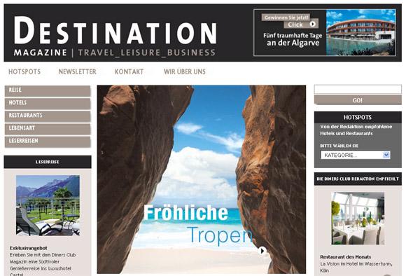 Ein exklusives Portal für Reisen und Lebensart geht online: Destination-mag