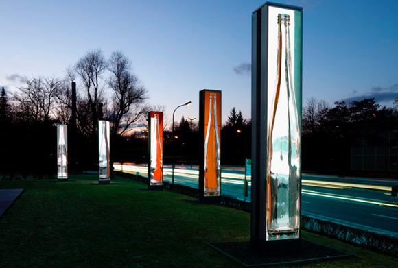 Außergewöhnliches Kunstprojekt: Seven Screens vor dem OSRAM-Haus am Mittleren Ring