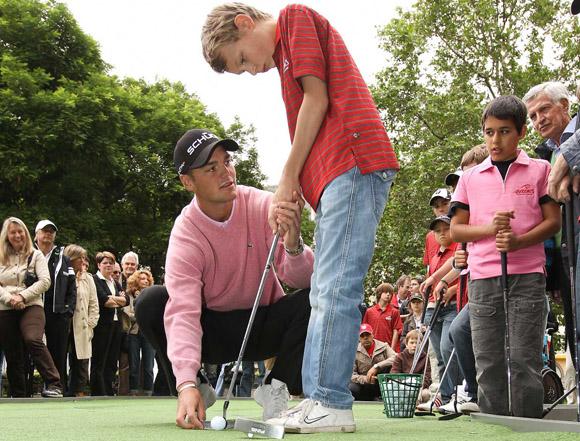 BMW International Open 2010 und Martin Kaymer gibt Golfunterricht