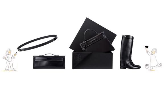 Modetrend SCHWARZ: Hermès Paris Accessoires SO BLACK für Fashionitas