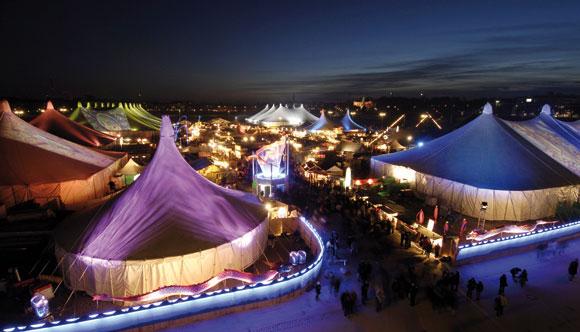 Tollwood Winterfestival 2010: Bis 31.12. auf der Theresienwiese
