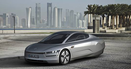 Erste Qatar Motor Show: VW enthüllt das 1-Liter-Auto
