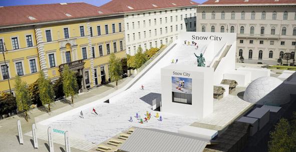 Ski- und WM-Feeling am Wittelsbacher Platz: Snow City startet!