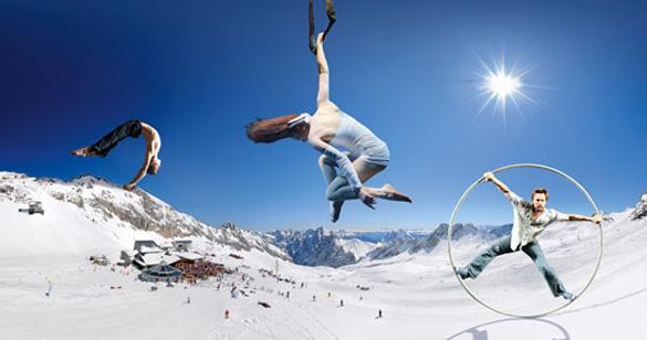 GOP-Varieté-Premiere im Schnee: Spektakuläre Show auf der Zugspitze