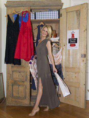 Monica Ivancan: 1. Prominente Unterstützerin der Münchner Charity-Aktion 'Buy my dress'