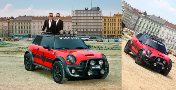Wiener Life Ball: DSQUARED2 stellen exklusiven Mini Cooper 'Red Mudder' vor
