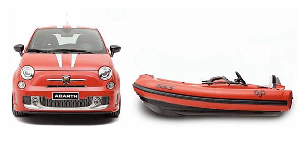 Ein Fiat für die Yacht: Exklusives Tenderboot SACS Abarth 695 Tributo Ferrari