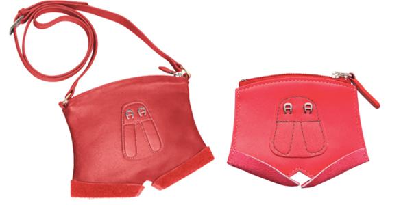 Exklusives Wiesn-Accessoire: Aigner Tasche im Lederhosen-Look