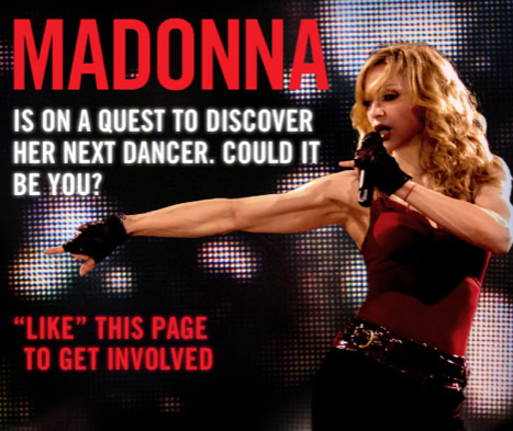 Pop-Queen Madonna: Sucht Tänzer über Facebook