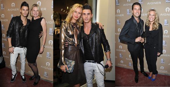 Karolina Kurkova und Baptiste Giabiconi: Stargäste im Münchner Aigner-Shop