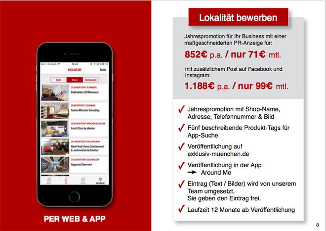 Werbung für Shops in München Shopeintrag