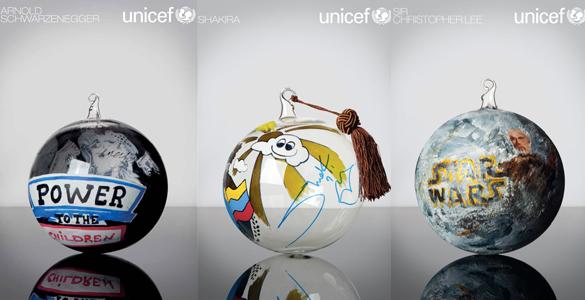 Exklusive Weihnachtsgeschenke: Prominente designen für UNICEF Christbaumkugeln