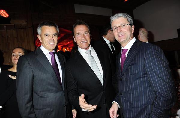 Hahnenkamm 2012: Arnold Schwarzenegger bei Audi Night