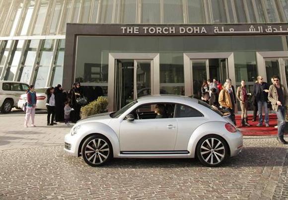 Beetle Driving Event im Wüstenstaat Katar: Münchner Promis gaben Gas