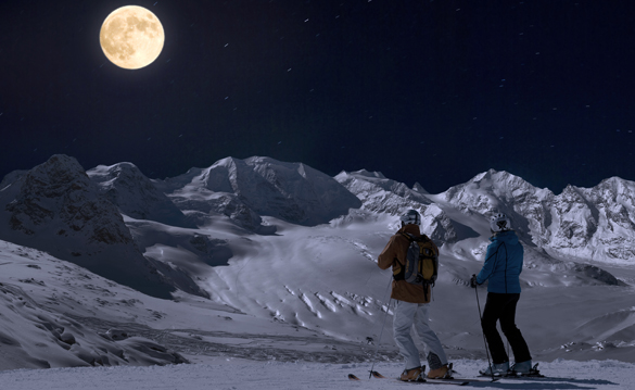 Vollmond-Action im Engadin: Spa-Night im Grand Hotel Kronenhof