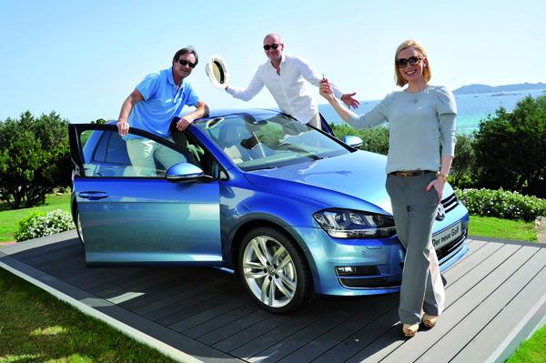 Wie fährt sich der neue Golf 7? Prominente testeten ihn auf Sardinien