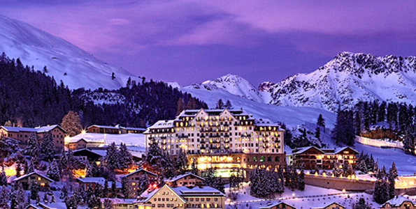 Hot Party in the Snow in St. Moritz