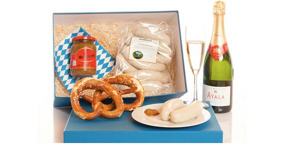 Holnburgers neuer Weißwurst-Clou: Gourmet-Paket mit Champagner-Weißwürsten