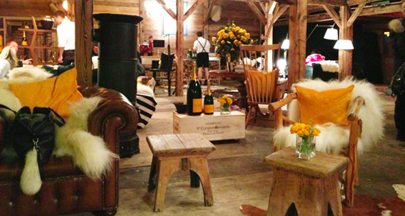 Exklusivste Party während Hahnenkammrennen: Veuve Clicquot Hüttenzauber