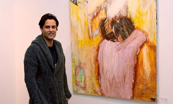Münchner Dichter Roman Libbertz: 'Lesung inmitten der Gemälde'