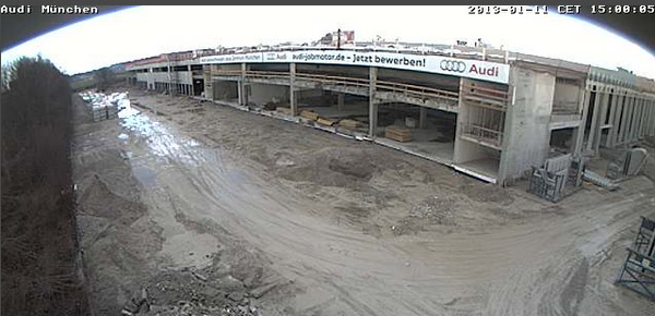 Audi Gebrauchtwagen plus Zentrum München: Live via Webcam dabei