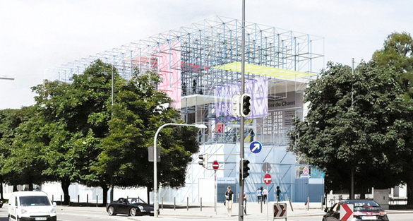 Pinakothek der Moderne wird umgebaut: Temporärer Ausstellungsbau SCHAUSTELLE