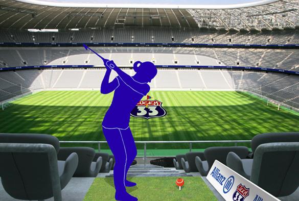 Allianz-Arena wird zur Golf-Arena