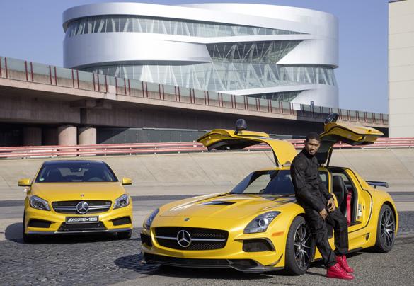 US-Superstar Usher fährt auf AMG ab: Stippvisite in Deutschland