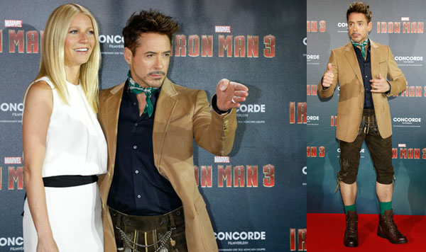 Hollywood-Besuch in Lederhose: Gwyneth Paltrow schmunzelte über Robert Downey Jr.