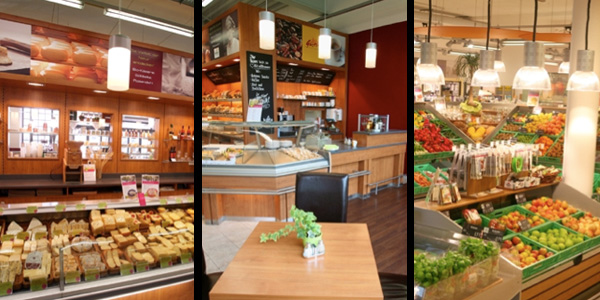Neuer denn's Bio-Supermarkt in Münchens neuem Shoppingviertel Hofstatt