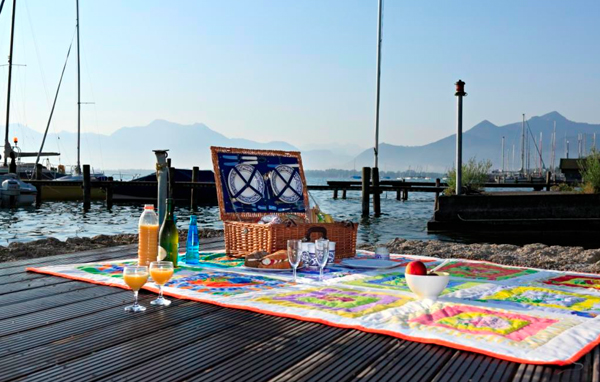Picknick am See: Do it yourself-Körbchen am Chiemsee