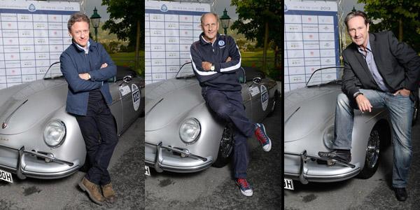 26. Kitzbüheler Alpenrallye: Erol Sander, Helmut Zierl und Axel Pape starteten in Oldtimern aus dem Volkswagen Konzern