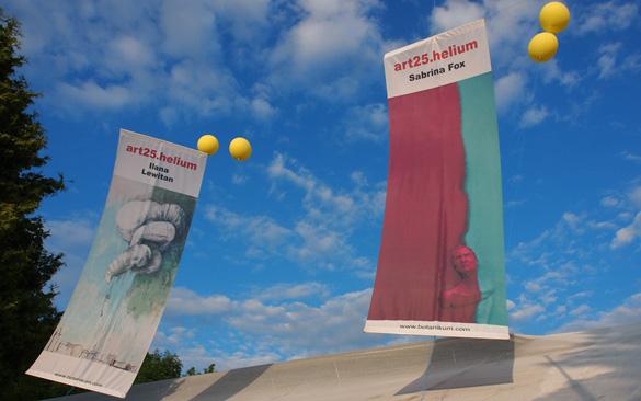 WOW! Hier schweben Kunstwerke übern Botanikum: art25.helium