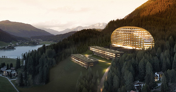 Hotel design highlight in der schweiz intercontinental davos for Hotel design schweiz