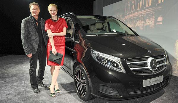 Weltpremiere des neuen Mercedes V-Klasse in München