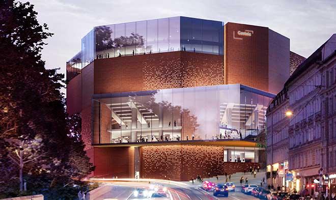 Den Zuschlag für den Gasteig München Neubau erhielt das Münchner Architektenbüro Henn. Fotocredit: Vizualisierung MIR