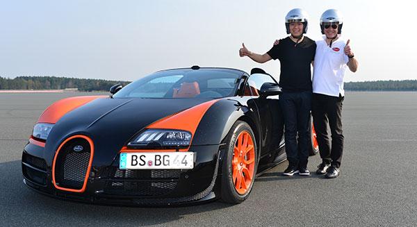 Wie fährt sich ein Bugatti 16.4 Veyron? Star Lang Lang teste den Supercar!