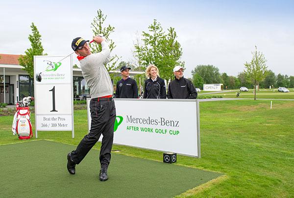 Mercedes-Benz After Work Golf Cup: Opening mit Beckenbauer & Siem in München