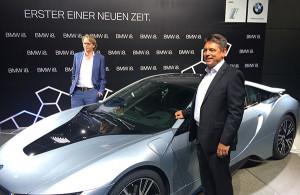 BMW Chefdesigner Jacob (li) und der Entwicklungsleiter Dr. Breitfeld (re)