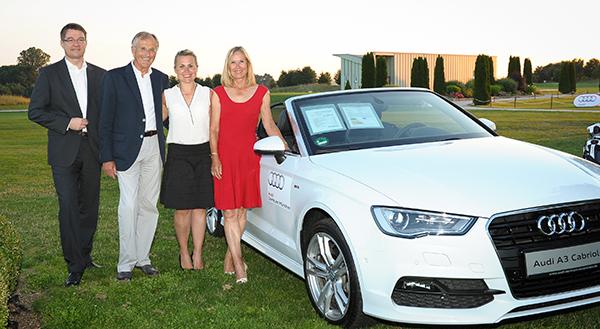 Hole in One Preis mit Dr. Borkowski, Mahag Betriebe und Audi Zentrum Eching, R. Salzl, M. Eberl und S. Beckenbauer