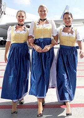 Oktoberfest bei der Lufthansa: Gleich drei Münchner Modehäuser kleiden ein