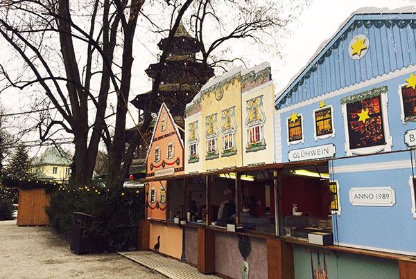 Münchens romantischster Weihnachtsmarkt: 'Chinesischer Turm'