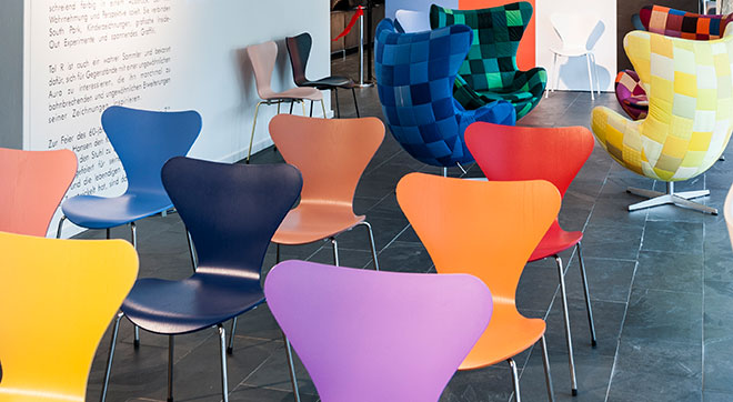 Designfunktion: Ausstellung für eine Stil-Ikone