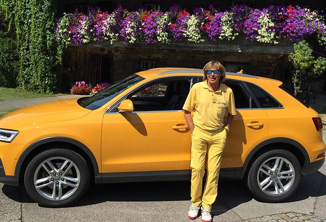 Hansi Hinterseer Bilder beim Golf-Quick-Besuch in München