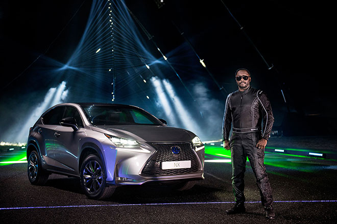Superstarin PS-starker Mission: 'Will.i.am' liebt Lexus