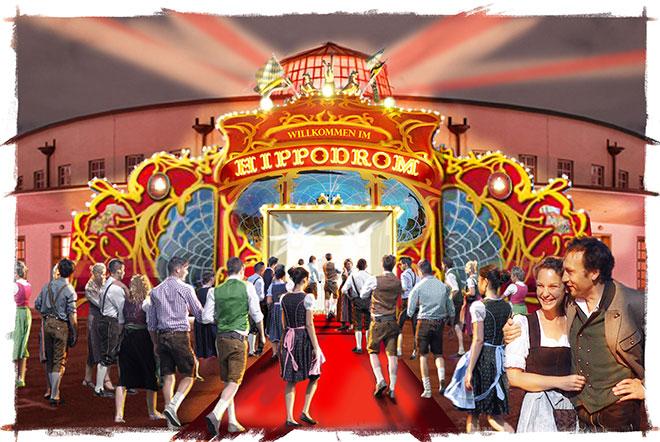 Oktoberfest-HotSpot nahe Theresienwiese: Hippodrom im Postpalast