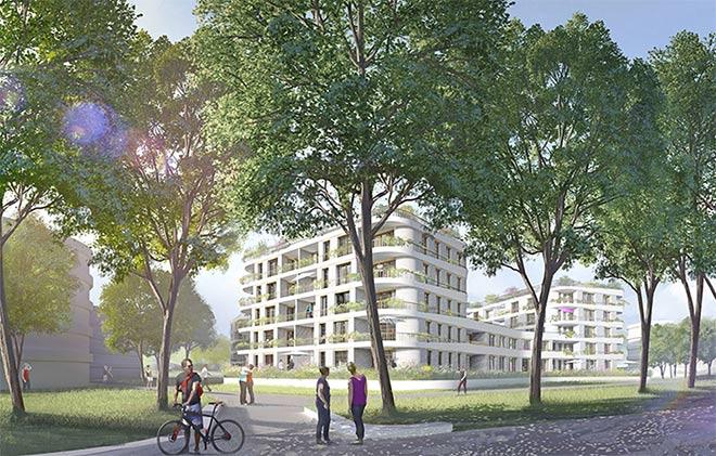 Exklusives Stadtquartier auf Ex-Bahnwerkgelände in Berg am Laim