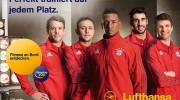 FC Bayern München macht Lufthansa-Passagiere fit