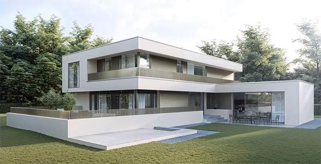 Bauhaus villa for Moderne villen von innen